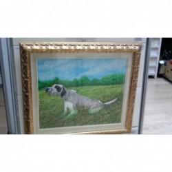"Dipinto Olio Su Tela ""cane..."