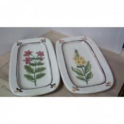 Coppia Vassoi Ceramica R....