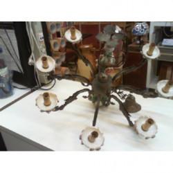 V-lampadario Ottone/ceramica