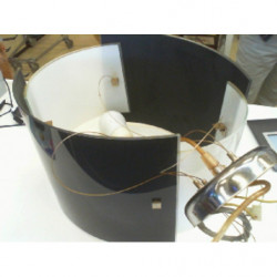 V-lampadario Vetro Bianco/nero