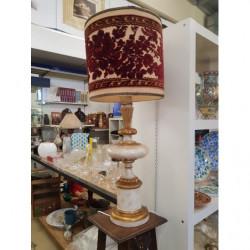 Lampada Da Tavolo Oro E...