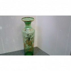 Vaso Vetro Verde Con Decori...