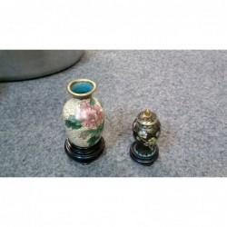 Coppia Miniature Cloisonne...