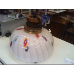 V-lampadario Vetro Opalino...